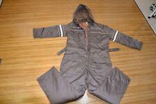 Vintage Sears Work Leisure Snow Ski Snowmobile Suit Brown Belted Mens Sz 42-44 L