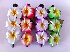 4Pcs Hawaii Flowers Hair Clips Bouquet Plumeria Foam Bridal Wedding Party