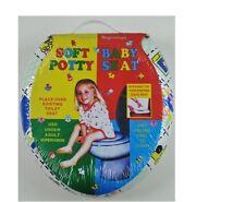 NEW CHILD TOILET SEAT POTTY TRAINING KIDS BABY SOFT PADDED PRINTED SEATS