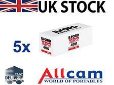 5 Rolls of Ilford XP2 Super 400 Professional Medium Format 120 Film *New Retail