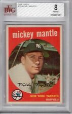 Mickey Mantle- 1959-Topps- #10-BVG-NM.-MT-8