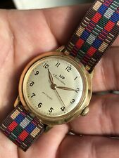 Lip Souveraine Vintage Mens Watch Nice Patina And Radium Hands Manual 31,5mm