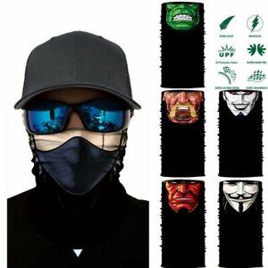 3D Skull Shield Face Guard Headband Bandana Headwear Ring Head Scarf Comic Char