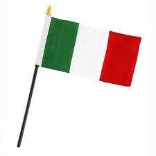 "ITALY Mini Desk Stick Flag 4/"" x 6/"" Columbus Day Italian Tri Color"