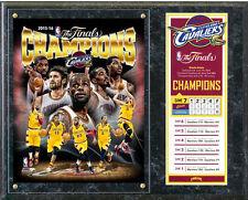 "CLEVELAND CAVS 2016 NBA CHAMPIONS TEAM COMPOSITE 15"" X 12"" Wood Plaque"