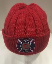 Adidas Chicago Fire MLS Alpaca Blend Winter Knit Hat Cap Soccer Red NWT New