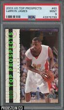 2003-04 Upper Deck Top Prospects #60 LeBron James RC Rookie PSA 9 MINT