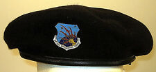 USAF US Air Force Security Police Communications Command Crest Badge Beret Rare