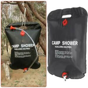 20L Solar Shower Bag Portable Camping Water Sun Compact Heated Outdoor Power