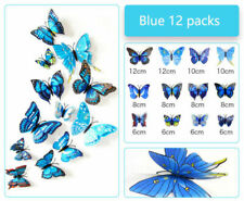 12 pieces of PVC butterfly 3D wall stickers home decoration plastic wall decorat