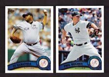 2011 Topps NEW YORK YANKEES Team Set Series 1 & 2 w/ Update 38 card NM/MT & MINT