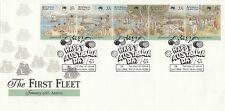 Australia 1988 - The First Fleet Arrival Fdc (Perth, Wa Happy Australia Day)