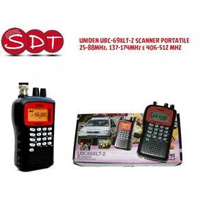 UBC-69XLT-2 Uniden Scanner Portable 25-88MHz, 137-174MHz Et 406-512 MHZ