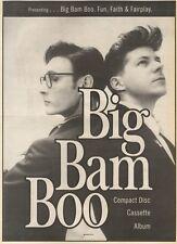 25/2/89Pgn30 Advert: Presenting Big Bam Boo 'fun, Faith & Fairplay' 15x11