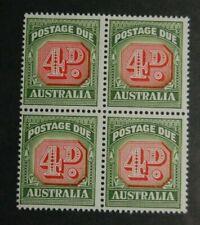 Australia  J89  F - VF NH OG BLOCK of 4