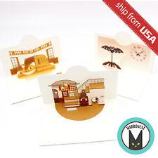 Japan Studio Ghibli Museum Mitaka Limited 3pcs Mini Pop up Card Interior RARE