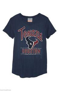 NWT Junk Food NFL Houston Texans Girl's Glitter Blue T-Shirt XS/S