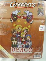 """Janlynn Sugarplum Greeters """"Peace"""" Plastic Canvas Kit  Sealed Christmas 2002"""