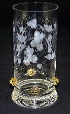 THERESIENTHAL - SAFTGLAS Wasserglas Glas - BEERENNOPPEN Bernstein BLATTRANKE