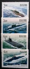 RUSSIA (2006) Very RARE Neuf sans charnière Full Set of 4 Soviet Navy Submarines VHC! r#003055