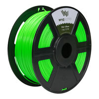 Fluorescent Green PLA 1.75mm WYZworks 3D Printer Premium Filament 1kg/2.2lb