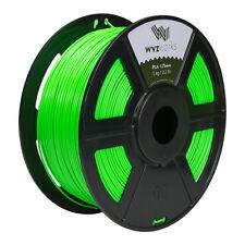 Fluorescent Green PLA 1.75mm WYZworks 3D Printer Premium Filament 1kg/2.2lb