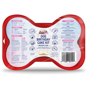 Dog Birthday Cake Kit- Birthday Cake Mix, Icing Mix, One Candle and Sprinkles
