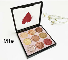 Eye shadow cosmetics easy to color eye shadow palette 9 color colorful