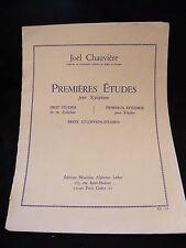 Partition Premières études pour Xylophone Joel Chauvière Music Sheet