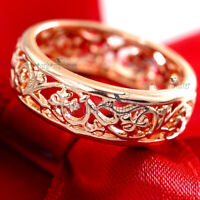 18K ROSE GOLD GF CELTIC FILIGREE ETERNITY COMFORT BAND ANNIVERSARY WEDDING RING