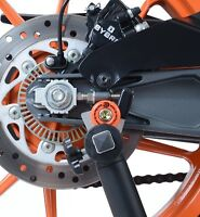 R&G Racing Cotton Reels for KTM RC 125 (2014-2018) in ORANGE