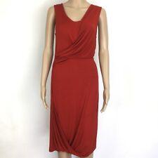 Veronika Maine Red Draped Stretch Jersey Dress Size 8 NWT RRP$129 (BL11)