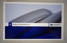 Scheckheft / / Entretien Brochure Subaru Blanc Stand 11/2007