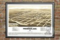 Old Map of Frederick, SD from 1883 - Vintage South Dakota Art, Historic Decor