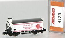 """Arnold N 4120 Gedeckter Güterwagen mit Brmsh der DB """"Füchsen Alt"""" OVP FF144"""
