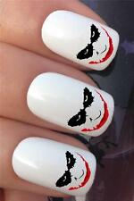 WATER NAIL TRANSFERS BATMAN SCARY JOKER DRIP FACE TATTOO DECALS STICKERS *615