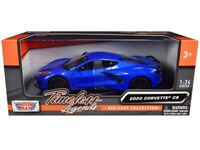 2020 Chevrolet Corvette C8 Stingray Blue Metallic 1/24 Diecast Model Car