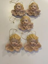 Vintage Angel Christmas Ornaments Handmade In Vermont, Qty. 5