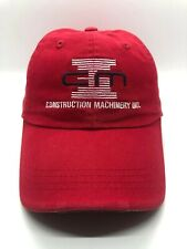 CMI Construction Machinery Ind Cap Hat Adult Adjustable Red Cotton