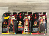 Star Wars Episode 1 Darth Maul Mace Windu Battle Droid figure NEW SEALED jedi