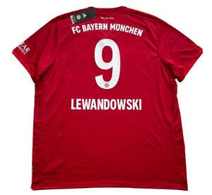 2019/20 Bayern Munich Home Jersey #9 Lewandowski 2XL Adidas Soccer Football NEW
