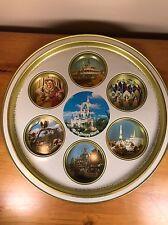 Vintage Walt Disney World Serving Tray Cup Holders Castle Princess