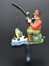 New listing Fisherman HandPainted Decorative Metal Wall Hook Single Hook for Coat /Key /hat