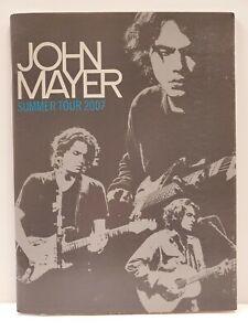 Rare John Mayer Summer Tour 2007 Concert Program Clean Pre-Owned Copy