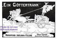 Rotkäppchen Sekt Freyburg Reklame 1907 Hermes Steitwagen Pferde Kloos Foerster +