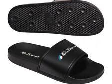 Ben Sherman Mens Slider Flip Flops Black (BEN3165)