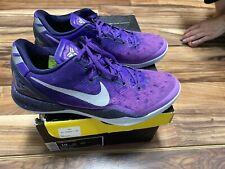 Nike Kobe 8 System Court Playoff Purple Mens Sz 10 Basketball Shoes 555035-500
