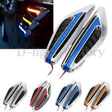 2x Universal Blade LED Car Steering Side Light Fender Indicator Turn Signal Lamp