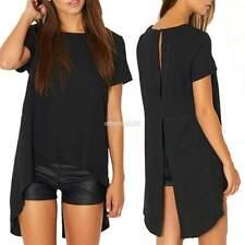 Donne Manica corta Blusa camicetta camicia maglietta T-shirt Blouse Chiffon Tops