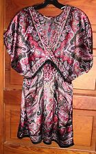 Decoded Multi-Colored Paisley Blouse Silky Fabric Size M